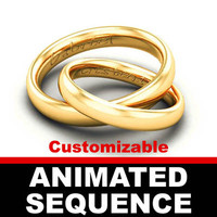 wedding rings sequence animated